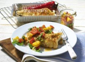 Fischfilet mit Gemüseüberrbacken